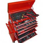 Werkstattwagen Werkzeugwagen Gefüllt Werkzeugkiste über 250 Werkzeuge