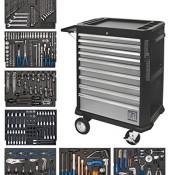 SW-Stahl Werkstattwagen 07075L bestückt mit sieben Schubladen, Z3407